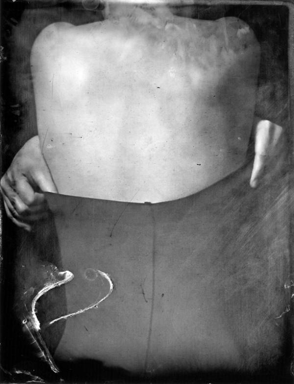 Renata Vogl scanned original ferrotype afterbody original size 13x10 cm