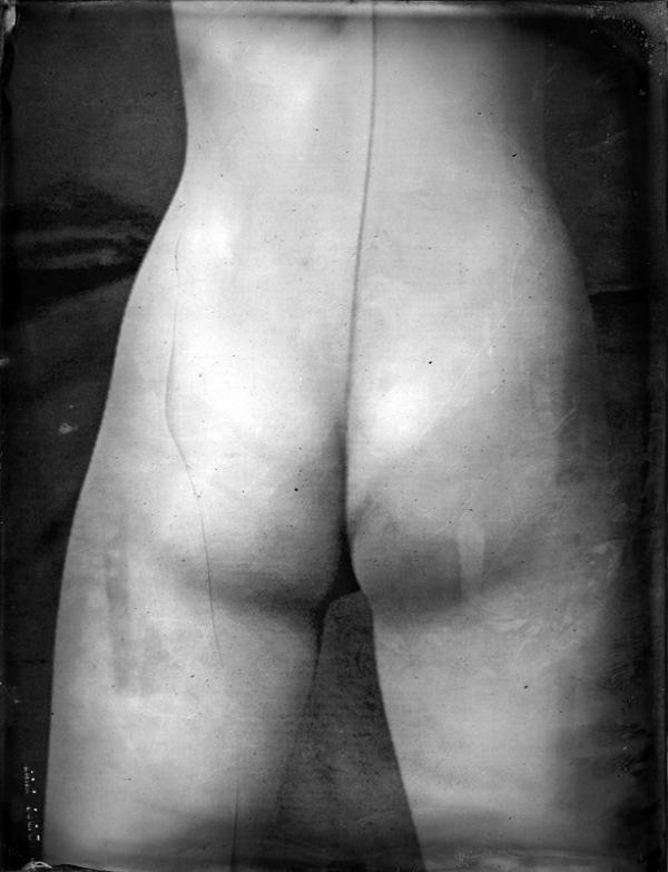 Renata Vogl scanned original ferrotype behinds original size 13x10 cm