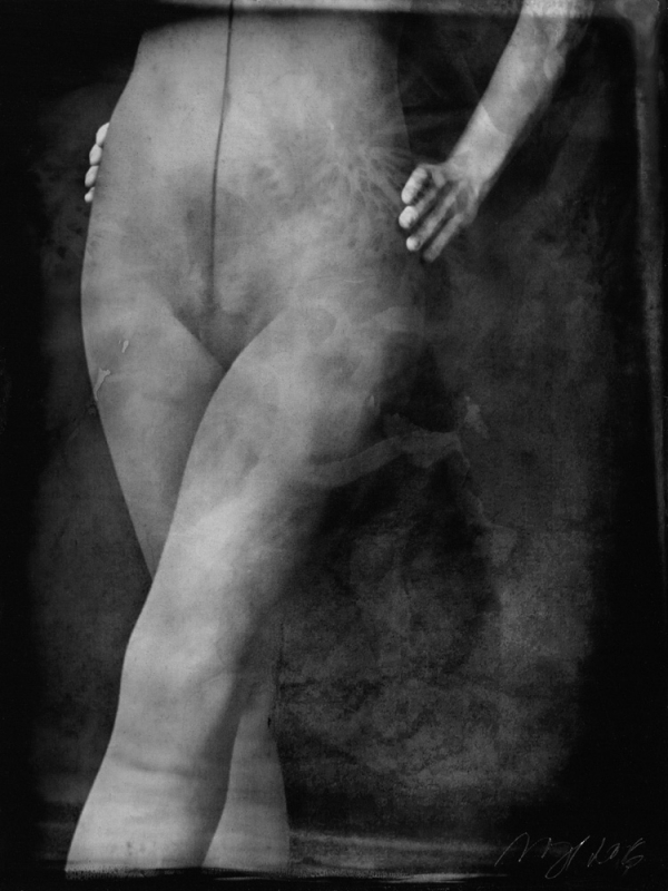 renata vogl scanned original ferrotype, figural, original size 13x10 cm