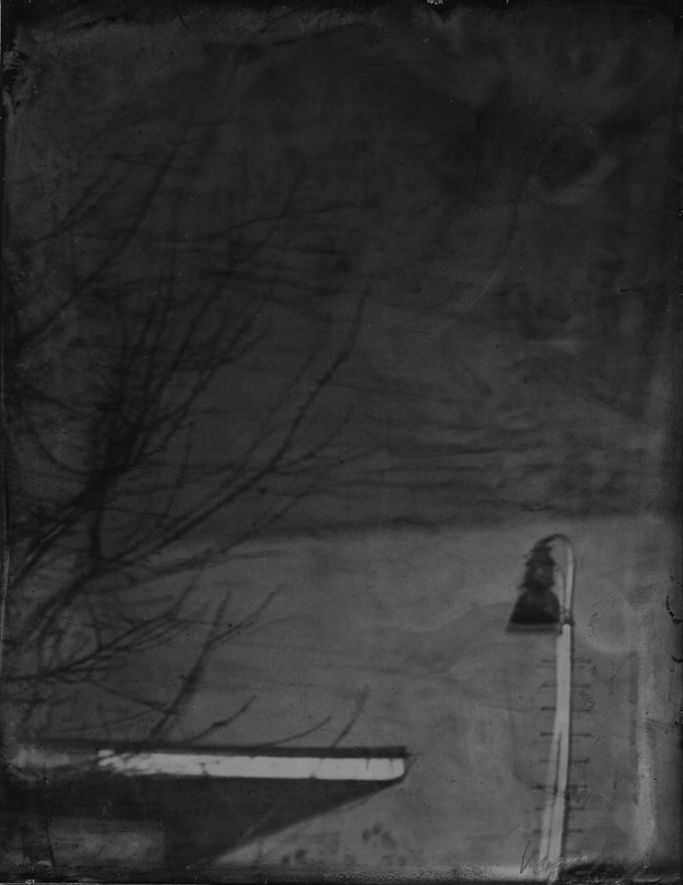Renata Vogl scanned original ferrotype, industrial reflection No1, original size 13x10 cm